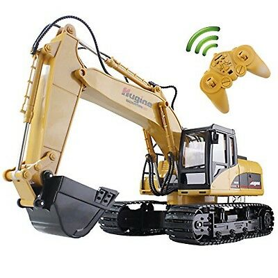 RC Truck Excavator Crawler 15CH 2.4G Remote Control Digger Demo Construction