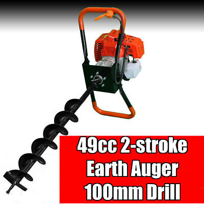 NEW Post Hole Digger 49cc Earth Auger DAKOTA Fence Borer Petrol Free Shipping