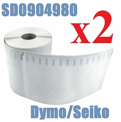 2 Compatible Dymo 4XL Extra Large Shipping Labels SD0904980 220 roll 104x159mm