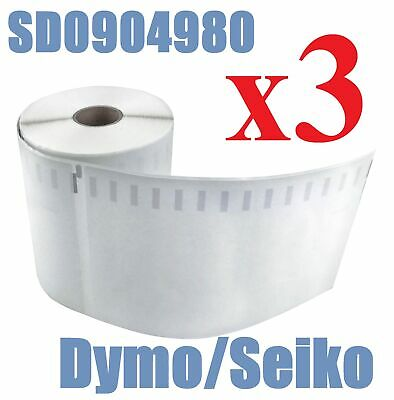 3 Compatible Dymo 4XL Extra Large Shipping Labels SD0904980 220 roll 104x159mm