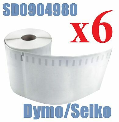 6 Compatible Dymo 4XL Extra Large Shipping Labels SD0904980 220 roll 104x159mm