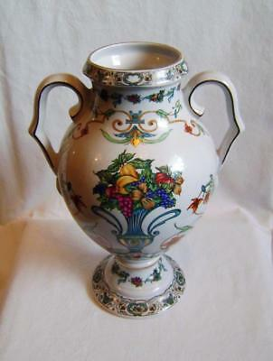 Vintage Pottery Vase in European Style with Two Handles, Panda Pottery