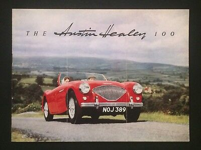 Vintage SALES BROCHURE Austin Healey 100 One Hundred Sports Car Classic