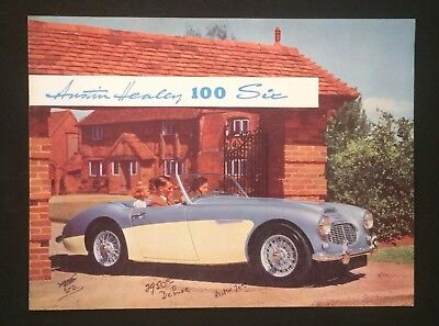 Vintage SALES BROCHURE Austin Healey 100 One Hundred Six Sports Car Classic #2