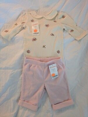 Infant Floral Yellow One Piece 3-6 mo. Gymboree Bundle PinkPull On Pants 3-6 mo.