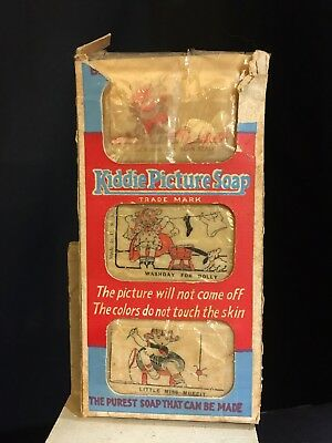 Wilson&Co Kiddie Picture Pictorial Soap &Box 1926 Miss Muffet Dolly Washday