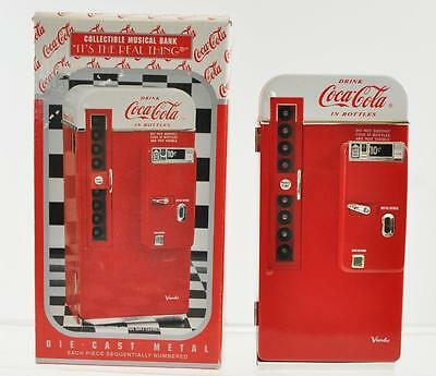 """1994 Coca-Cola Collectible Musical Bank Die-Cast Metal """"It's The Real Thing"""""""