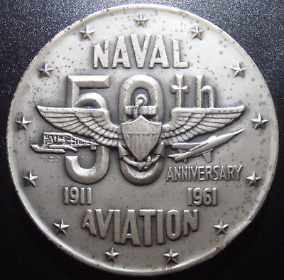 U.S. Naval Aviation 50th Anniversary Medal - 3.85ozt of .999 Fine Silver