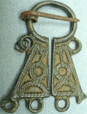 Strange Ancient Bronze Brooch, Rare