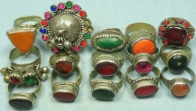 Lot Of 15 Gypsy Rings From India