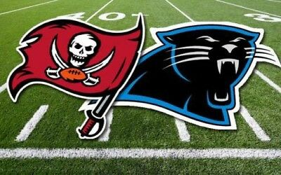 2 tickets Carolina Panthers vs Tampa Bay Buccaneers LOWER Section 254