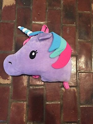Nwt Unicorn Backpack Purple  Pet Cushion Animal Pillow Purse