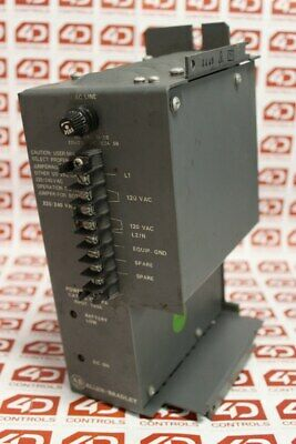 Allen Bradley 1771-PA PLC-5 Power Supply 120/220V AC - Series W - Used