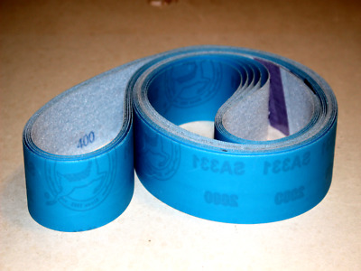 2 X 72  Film Sanding Belt Variety Very Fine Grit 400, 800, 1200 Grit - 6 Belts