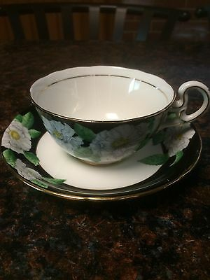Royal Grafton  Fine Bone China Cup & Saucer Vintage Antique With Flowers