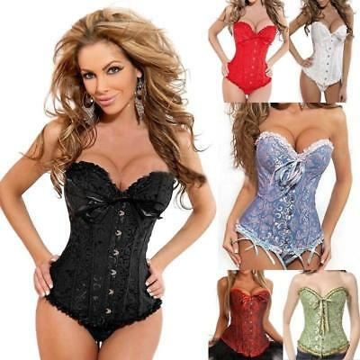 Women Steel Boned Corset Bustier Top Lingerie Waist Trainer Cincher Body Shaper