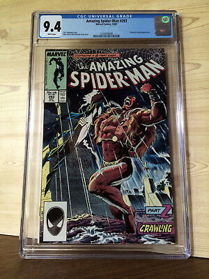 The Amazing Spider-Man #293 (Oct 1987, Marvel) CGC 9.4 Kraven & Vermin app.