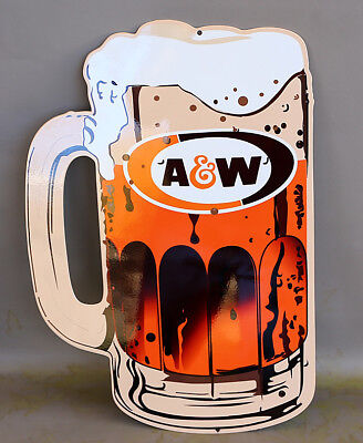 "18"" A&W ROOTBEER MUG Diecut Display Sign modern retro"