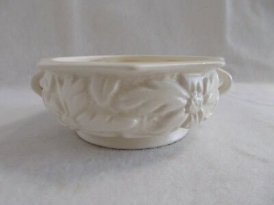 Vintage White English Float Trough Vase