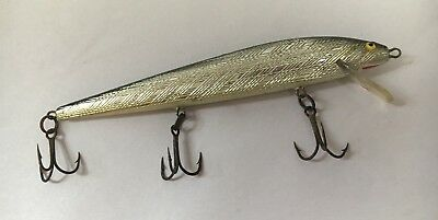 #2 Vintage WOODEN Wood Silver & Black FISHING LURE Silver & Black Red Mouth