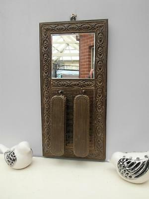 VINTAGE Antique BRASS Mirror VANITY & Clothes BRUSH set WALL Hang QZZQ Adelaide