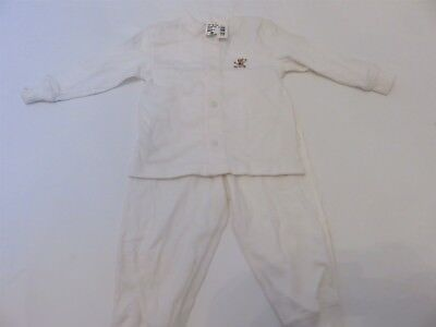 Ralph Lauren Layette Polo bear w Flag 2P infant outfit 6-12 months NWT White