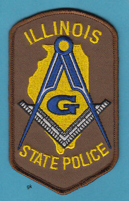 Illinois Mason Masonic State Police Shoulder Patch