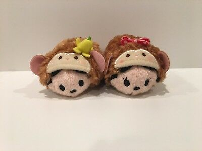 Disney Store Japan Tsum Tsum Monkey Mickey and Minnie 2016 Mini  - US SELLER