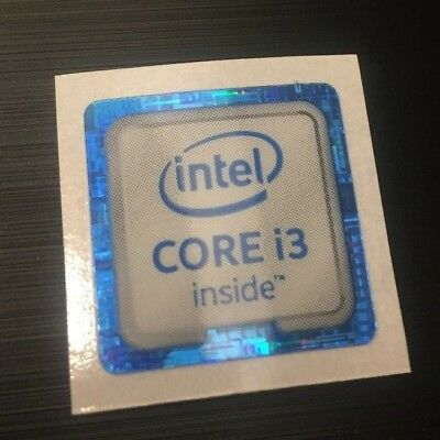 1x/2x/5x/10x Intel CORE i3 inside 6th Generation Skylake Sticker Decal 18x18mm