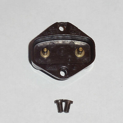 1950's Singer 401A Sewing Machine Two Prong Terminal Plug Receptacle Bakelite