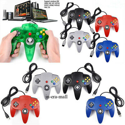 Wired N64 Controller Joystick Gamepad USB for Nintendo 64 Console Game System US