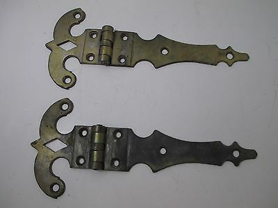 Pair of VTG / Antique Hinges Brass Finish K-Process