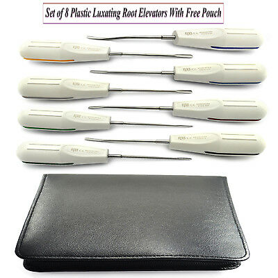 X8 Dental Tooth Extracting Plastic Luxating Loosening Kit With Free Black Pouch