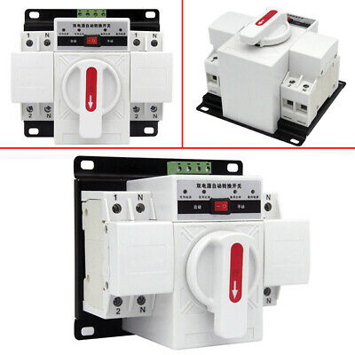 New 1Pcs 63A 2P 50HZ/60HZ Dual Power Automatic Transfer Switch 150×137×118mm