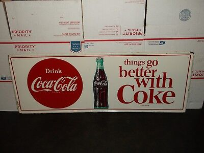 Vintage 1950's Things Go Better With A Coke Button Metal Sign M-C-A- 2732