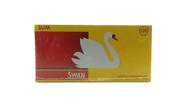 Swan Slim Filters Tips One Box Of 20 Packs X 102 Tips = 2040 Tips