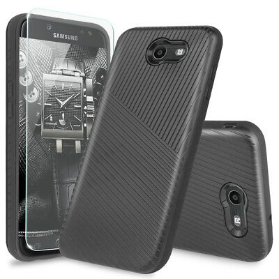 For Samsung Galaxy Halo Shockproof Armor Phone Case Cover+Tempered Glass Screen