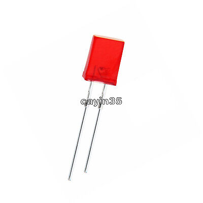 30pcs 2x5x7MM  2*5*7mm  Square Red Light LED Diode LED Lamp Bulb 2Pin