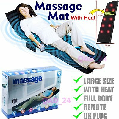 Remote Control Massage Mat Mattress Full Body Heated Massager Cushion Sofa Bed