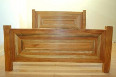 Trembesi Mahogany Kingsize Art Deco Bed Frame Indonesian Hardwood