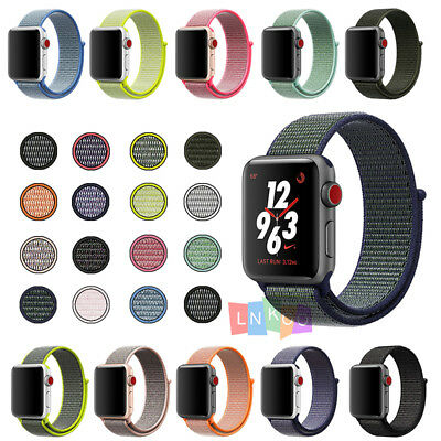 Flash Sport Loop Woven Nylon Sport Watch Band Bracelet For Apple Watch 38mm 42mm