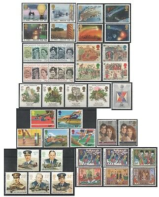1986 Royal Mail Commemorative Sets MNH. Sold separately & as full year set.