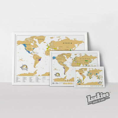 Scratch Map ® SMALL Scratch off World Map Poster by INVENTORS OF SCRATCH MAPS