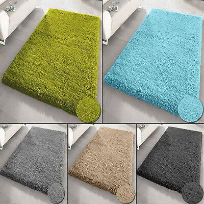 Small X Large Size Thick Plain Soft Shaggy Rug Living Room Bedroom Non Shed Rugs