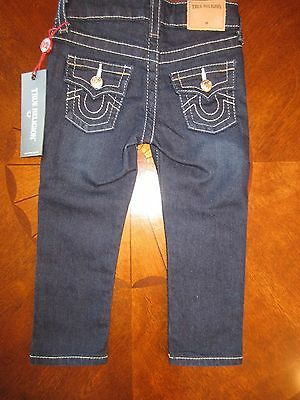 True Religion Infant Boy/Girl Sz 24M Geno Jeans Style: BHZQ30JR13 RINSE NWT