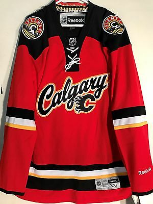 NHL Calgary Flames Premier Hockey Sur Glace Maillot Jersey