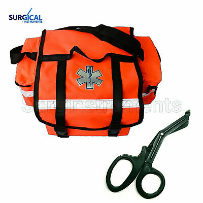First Aid Responder EMS Emergency Medical Trauma Bag + Free EMT Shear
