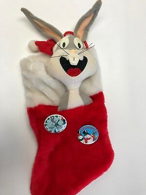 Vintage Warner Bros. Looney Tunes BUGS BUNNY Christmas Plush Stocking