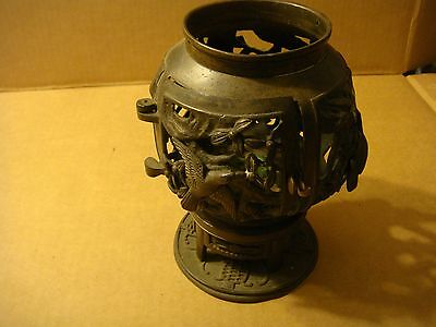 Antique Japanese 18Th Century Lamp Maybe Bronze/ Brass But Very Old!!!!