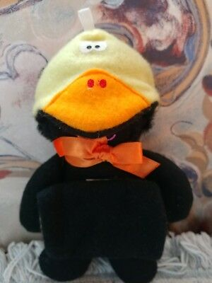 CAT Black Purr-Tender DUCK Plush 1987 Hallmark Burger King Toy Sock-Ems Yellow